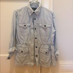 Lauren Jeans Co denim cinched shirt